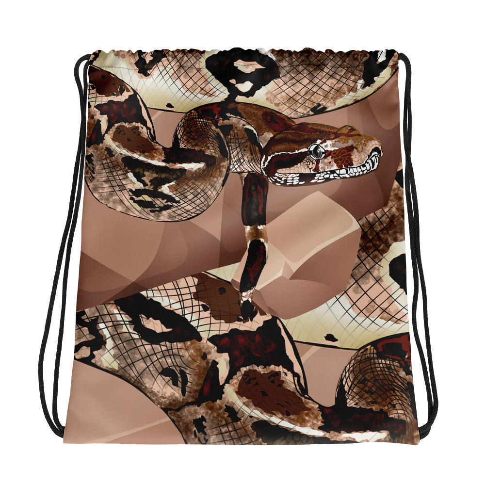 All-Over Print Drawstring Bag: Boa Constrictor