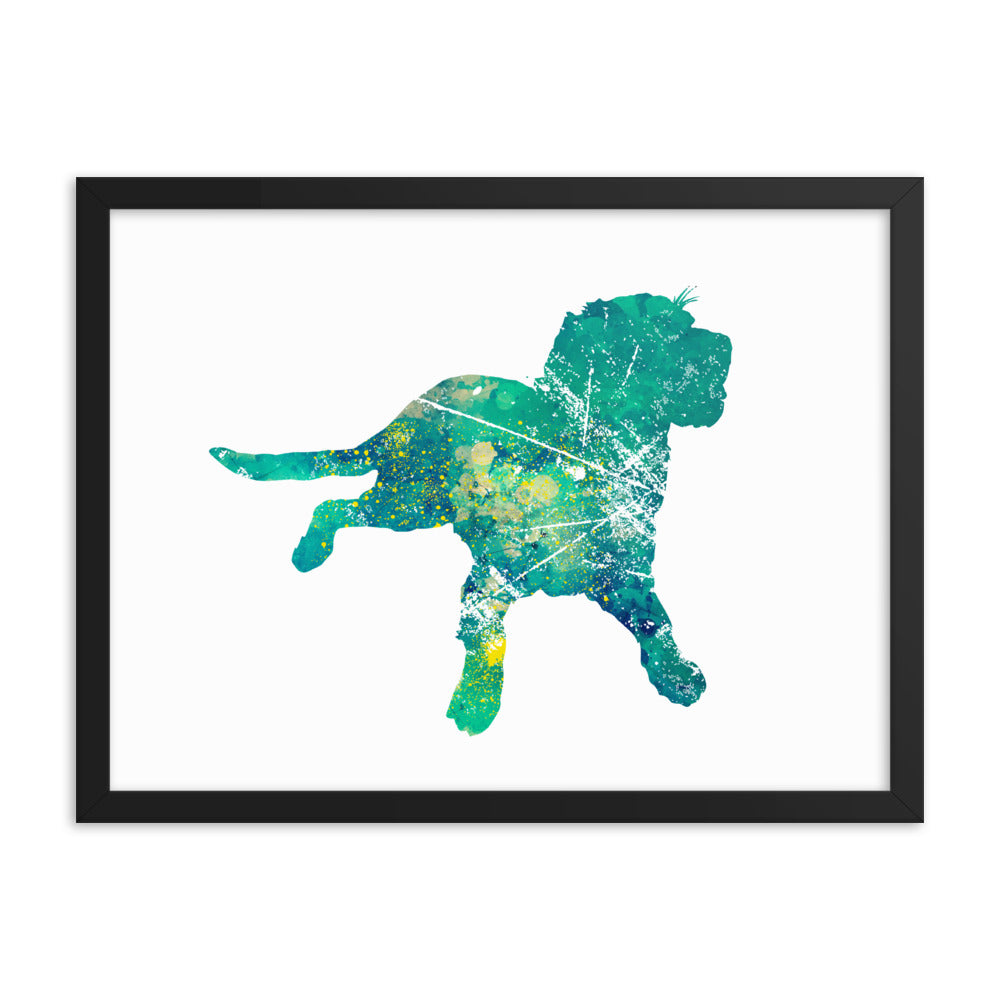 Enhanced Matte Paper Framed Poster (in): Labrador Retriever Silhouette