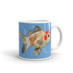 White Glossy Mug: Gold Fish