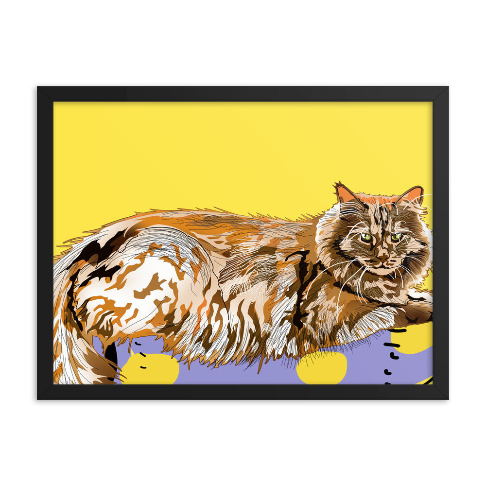 Enhanced Matte Paper Framed Poster (in): Maine Coon