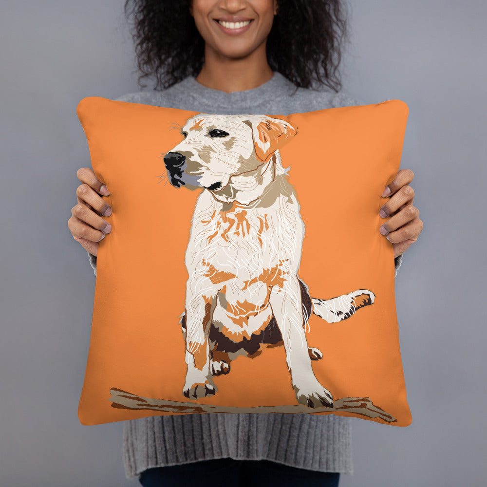 All-Over Print Basic Pillow: Labrador Retriever