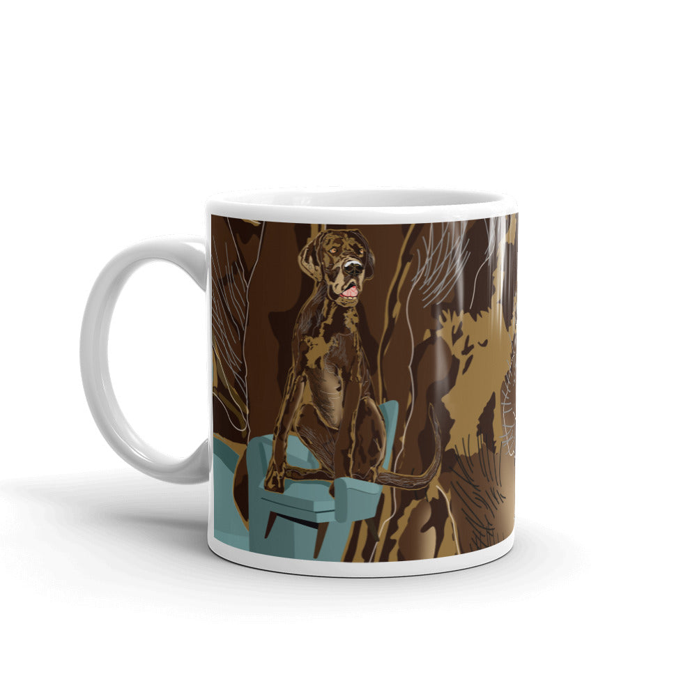 White Glossy Mug: Great Dane