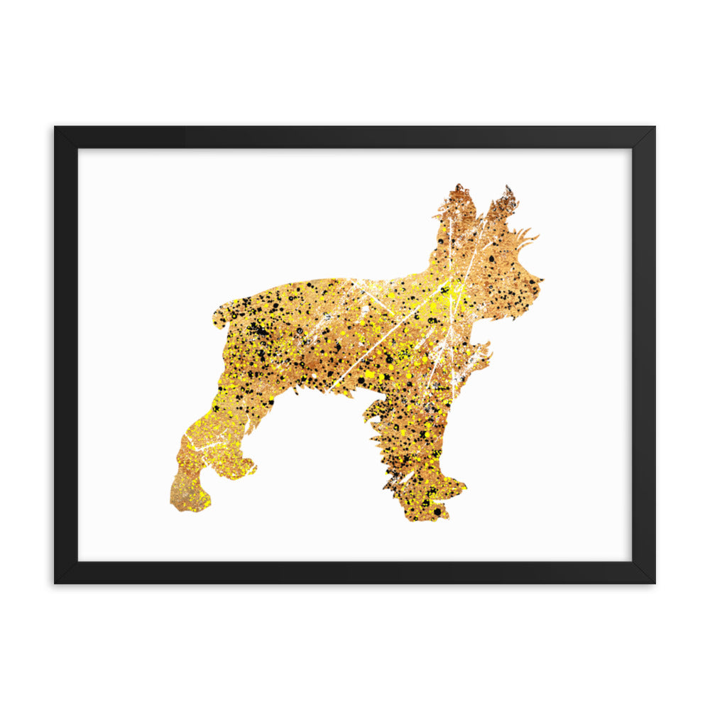 Enhanced Matte Paper Framed Poster (in): Miniature Schnauzer Silhouette