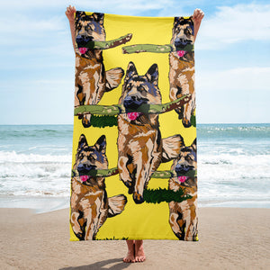 Sublimated Towel: German Shepherd
