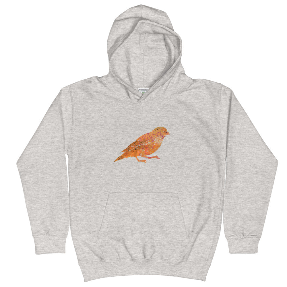 Kids Hoodie: Canary Silhouette