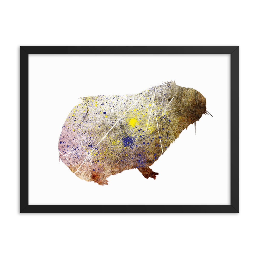 Enhanced Matte Paper Framed Poster (in): Guinea Pig Silhouette