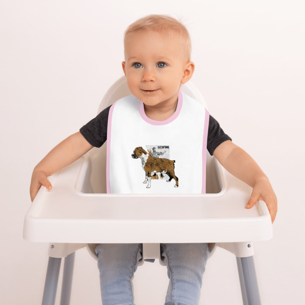 Embroidered Baby Bib: Boxer