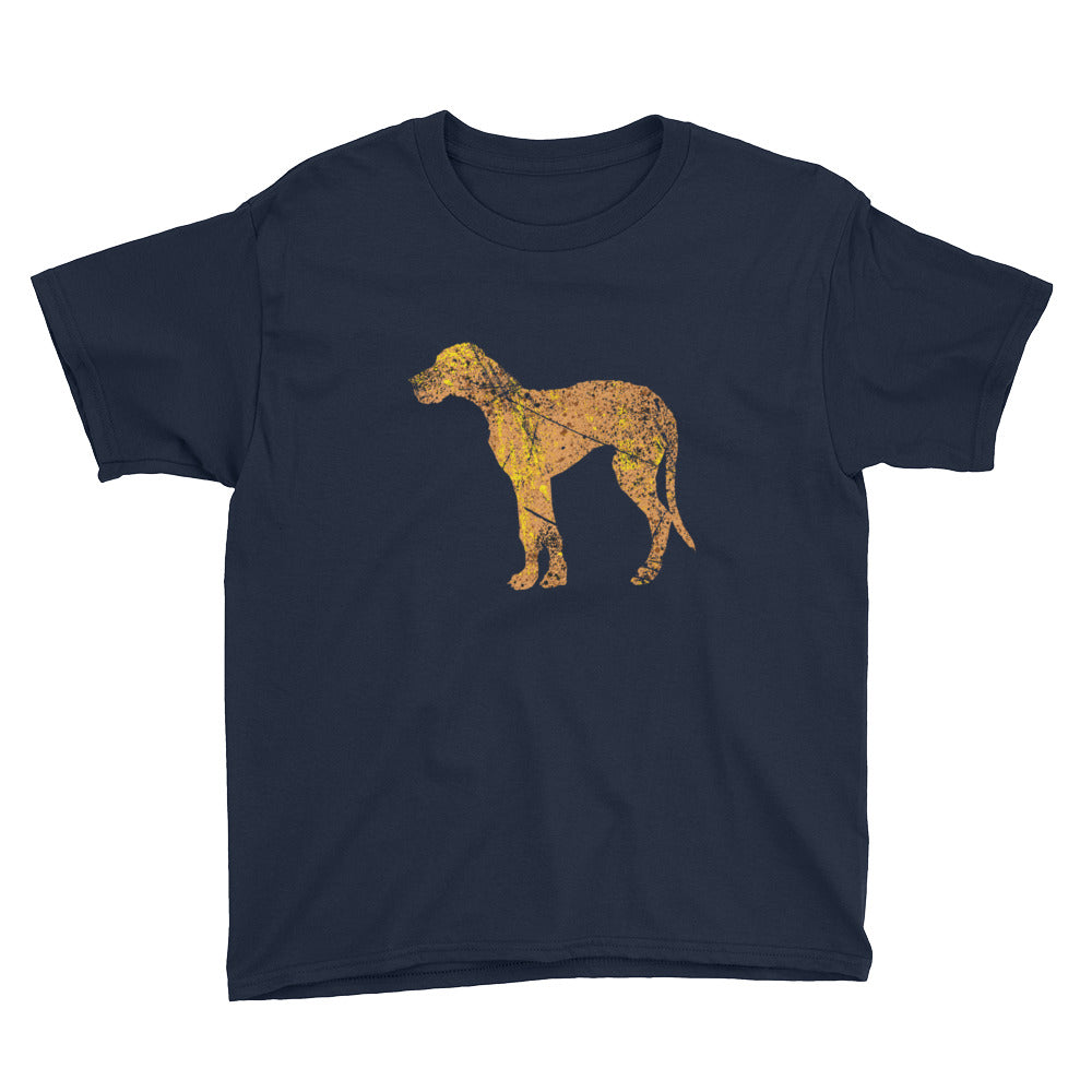 Youth Lightweight T-Shirt: Great Dane Silhouette