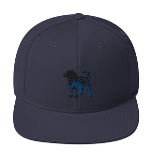 Classic Snapback: Bernese Mountain Dog Silhouette