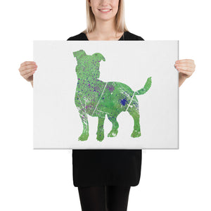 Canvas (in): Jack Russell Terrier Silhouette