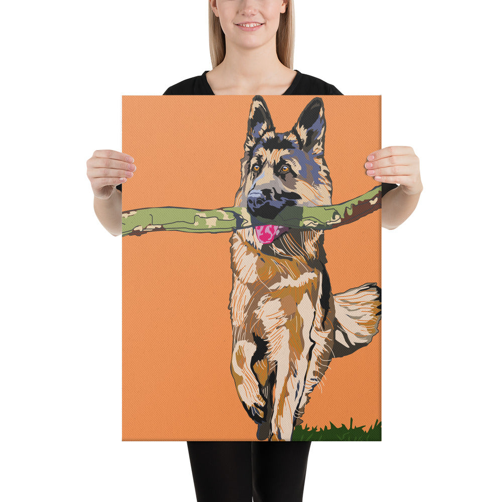 Canvas (in): German Shepherd