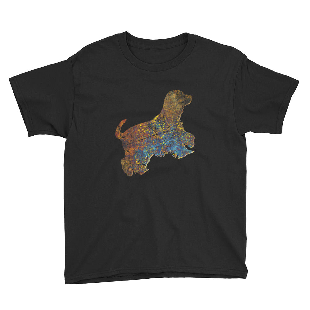 Youth Lightweight T-Shirt: Cocker Spaniel Silhouette