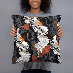 All-Over Print Basic Pillow: Bernese Mountain Dog