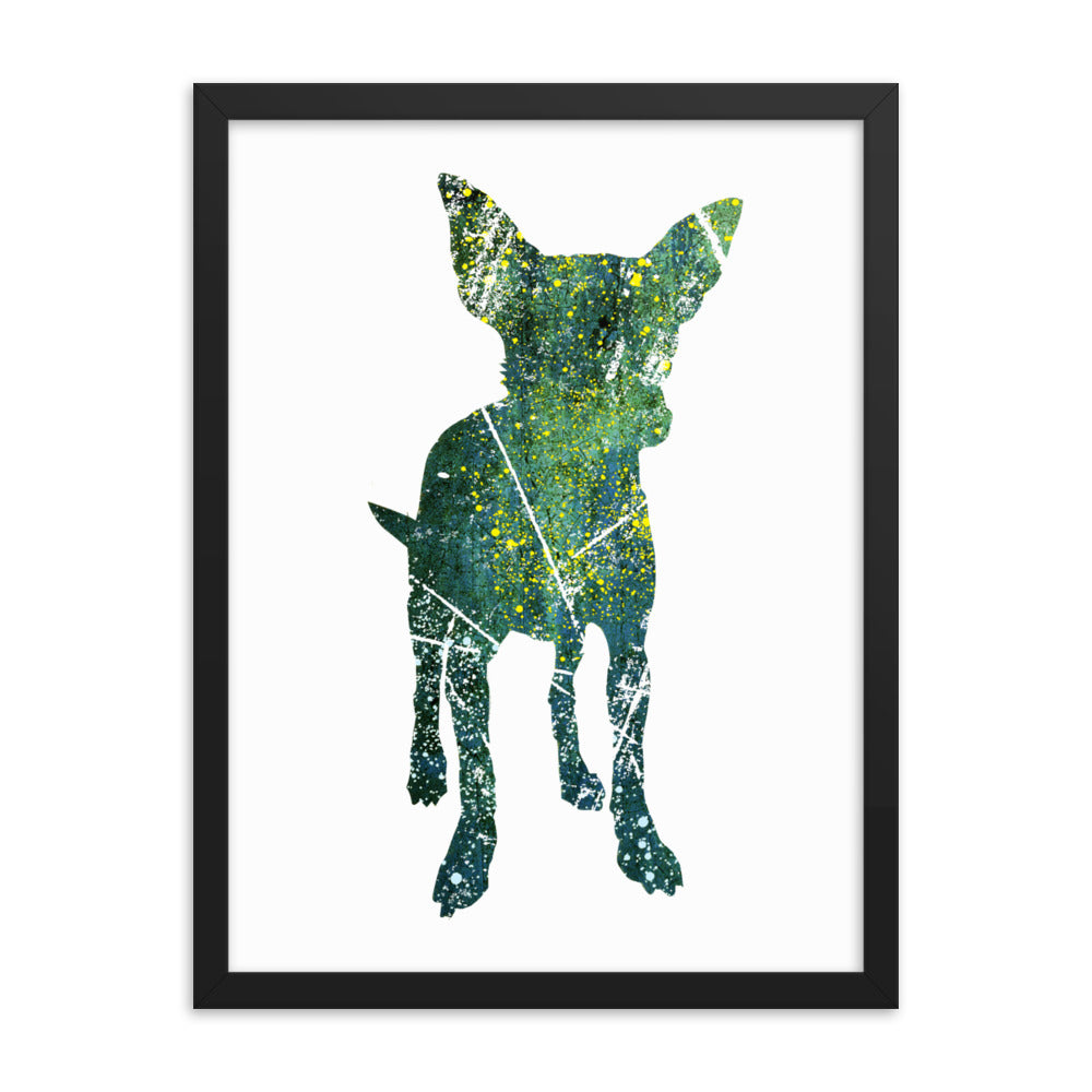 Enhanced Matte Paper Framed Poster (in): Chihuahua Silhouette