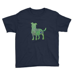Youth Lightweight T-Shirt: Jack Russell Terrier Silhouette
