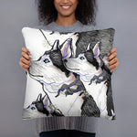 All-Over Print Basic Pillow: Siberian Husky
