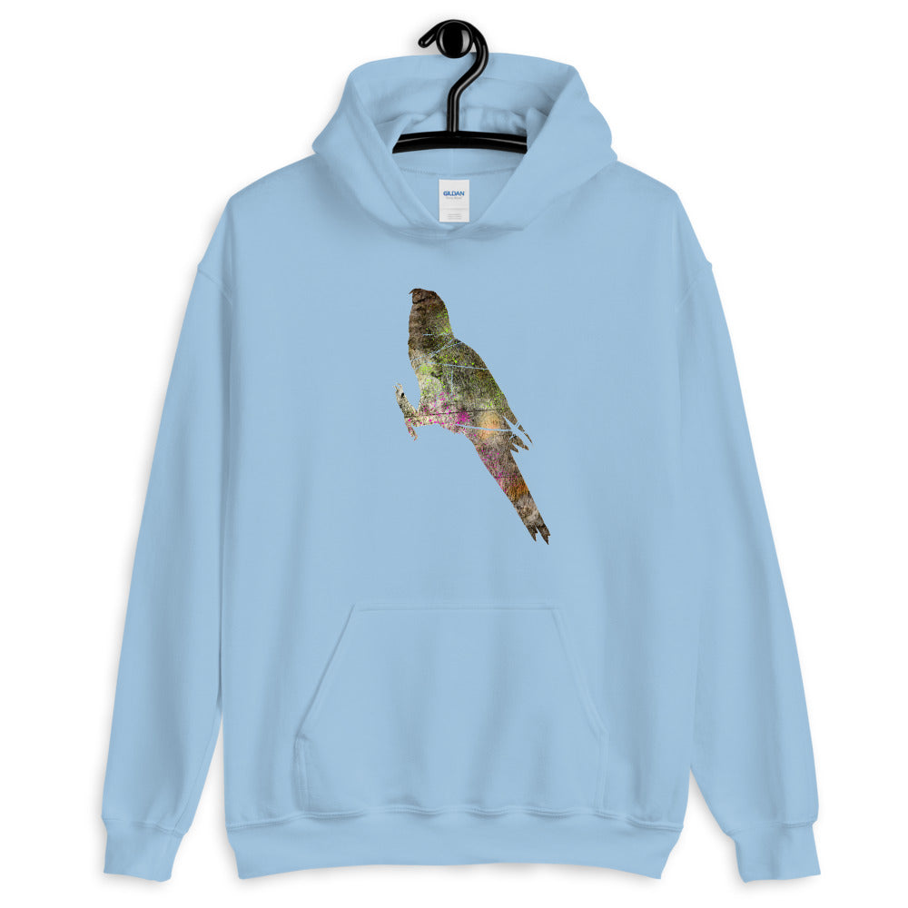 Unisex Heavy Blend Hoodie: Parrot Silhouette