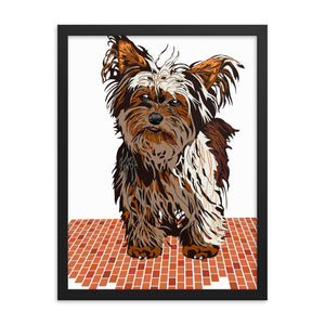 Enhanced Matte Paper Framed Poster (in): Yorkshire Terrier