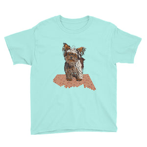 Youth Lightweight T-Shirt: Yorkshire Terrier