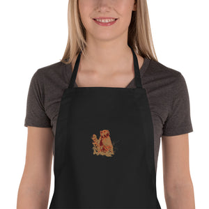 Embroidered Apron: Golden Retriever