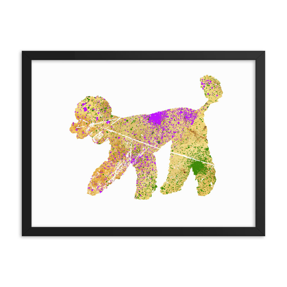 Enhanced Matte Paper Framed Poster (in): Poodle Silhouette
