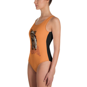 All-Over Print One-Piece Swimsuit: Yorkshire Terrier