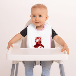 Embroidered Baby Bib: Hamster