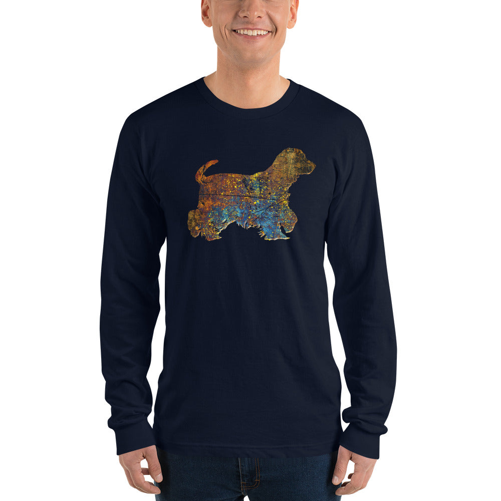 Unisex Long Sleeve Shirt: Cocker Spaniel Silhouette