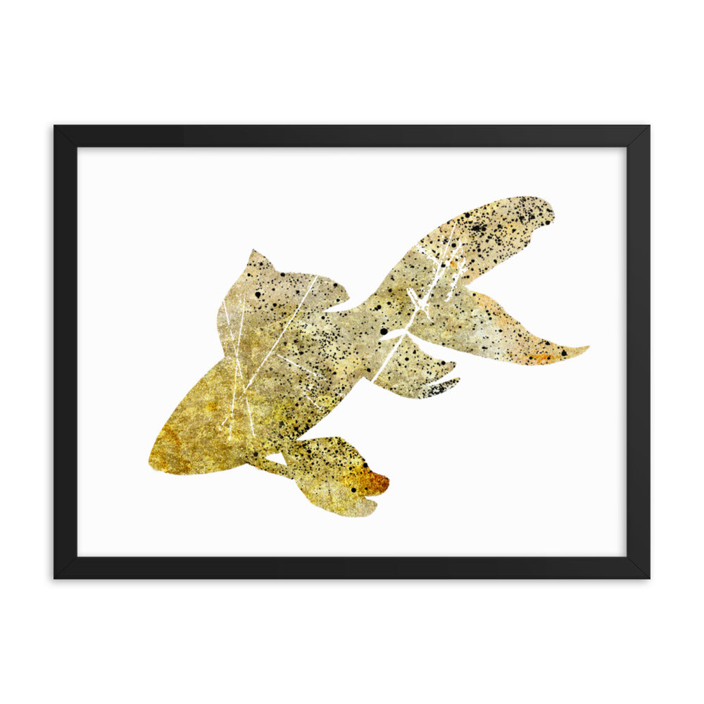 Enhanced Matte Paper Framed Poster (in): Goldfish Silhouette