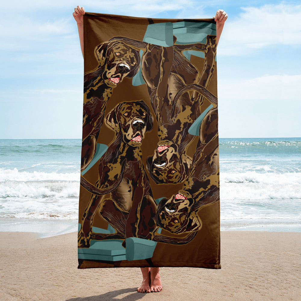 Sublimated Towel: Great Dane