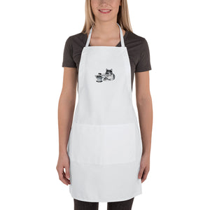 Embroidered Apron: Barn Cat