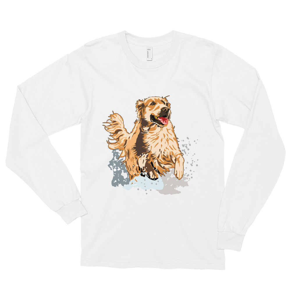 Unisex Long Sleeve Shirt: Golden Retriever