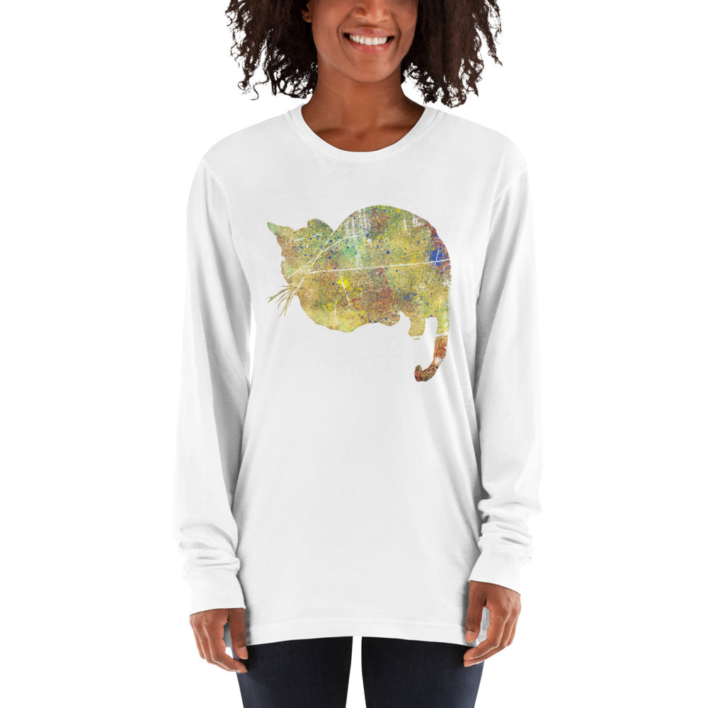 Unisex Long Sleeve Shirt: Bengal Cat Silhouette
