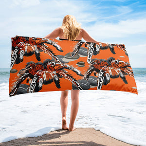 Sublimated Towel: Tarantula