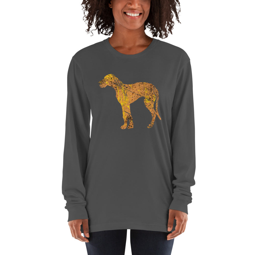 Unisex Long Sleeve Shirt: Great Dane Silhouette