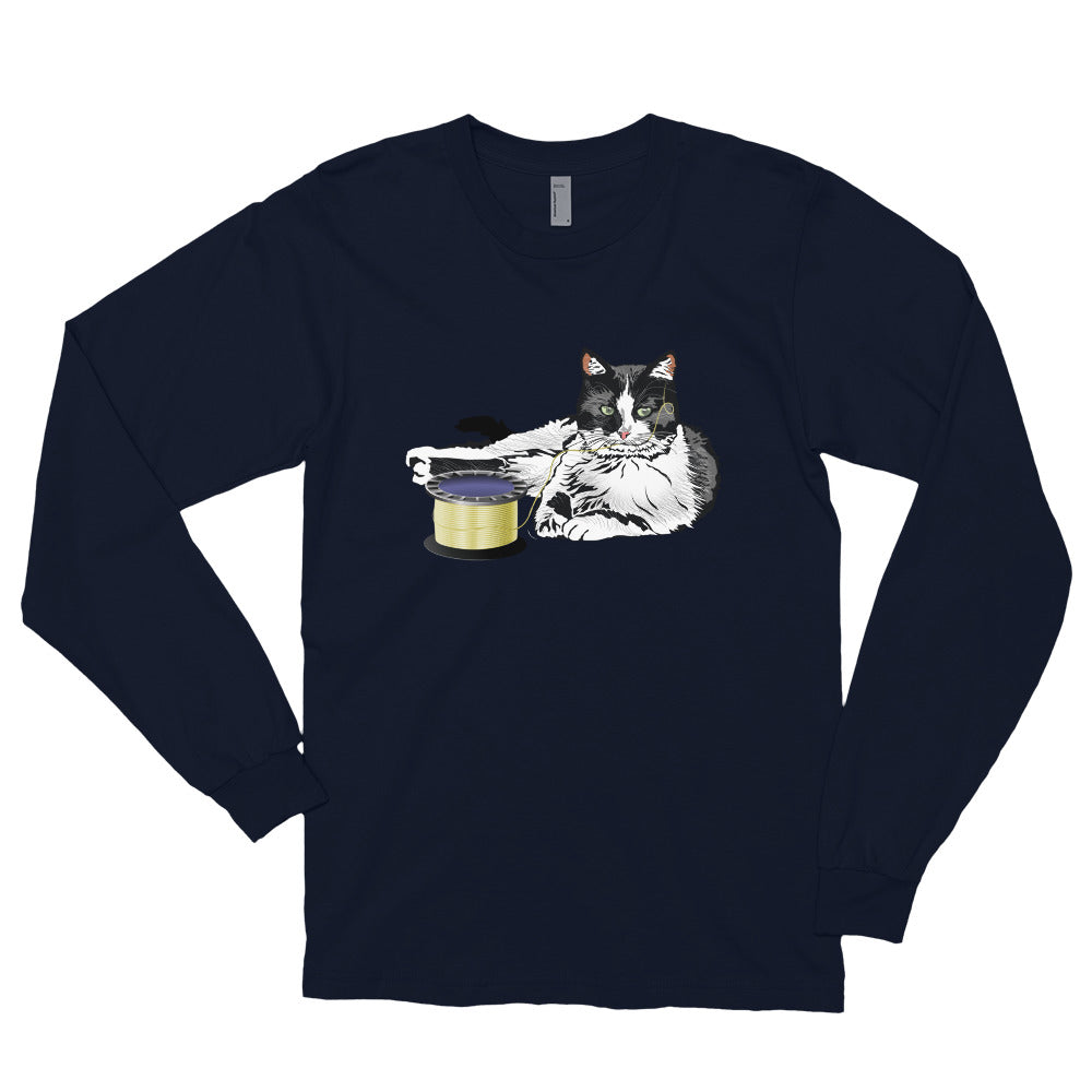 Unisex Long Sleeve Shirt: Barn Cat