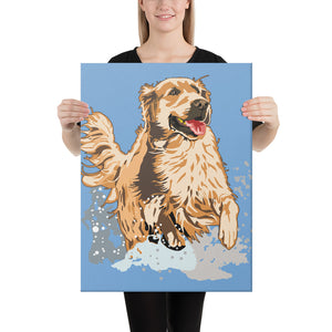 Canvas (in): Golden Retriever