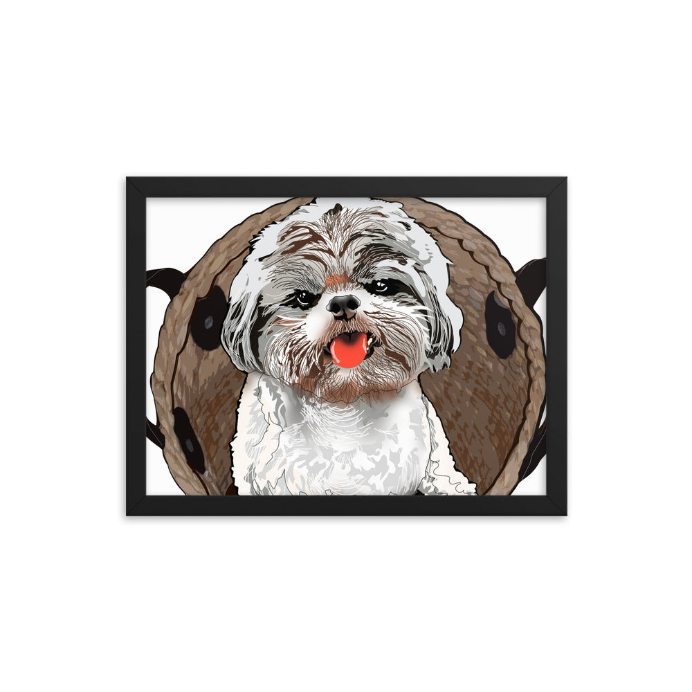 Enhanced Matte Paper Framed Poster (in): Shih Tzu
