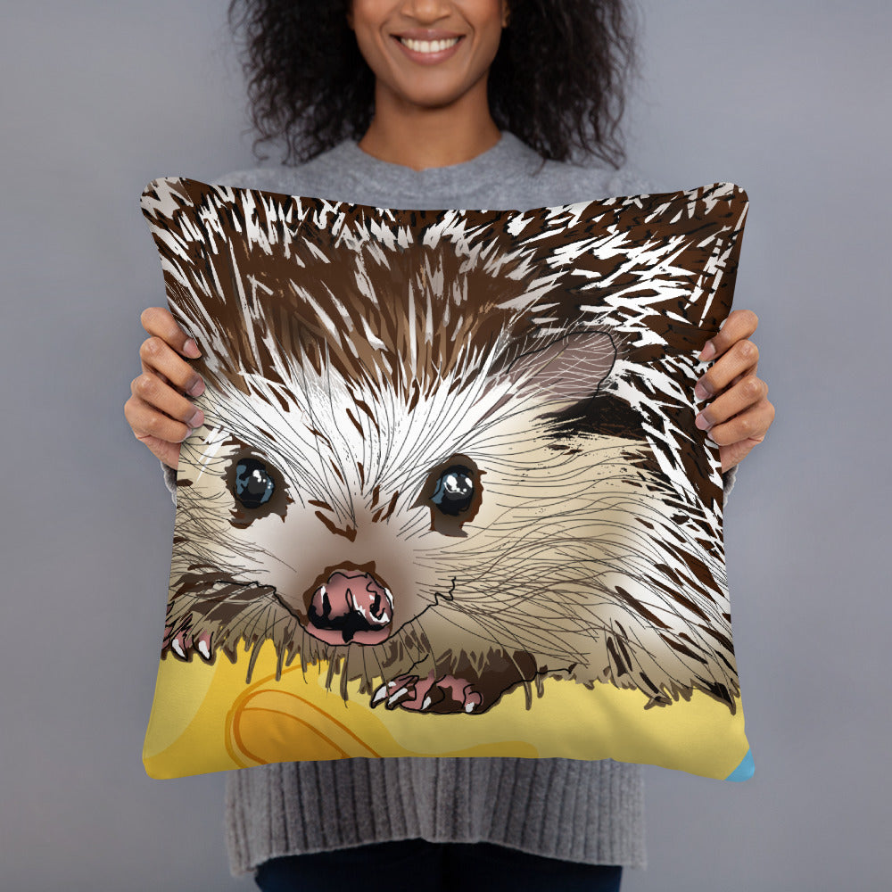 All-Over Print Basic Pillow: Hedgehog