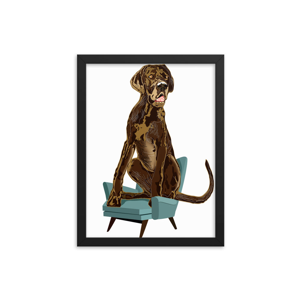 Enhanced Matte Paper Framed Poster (in): Great Dane