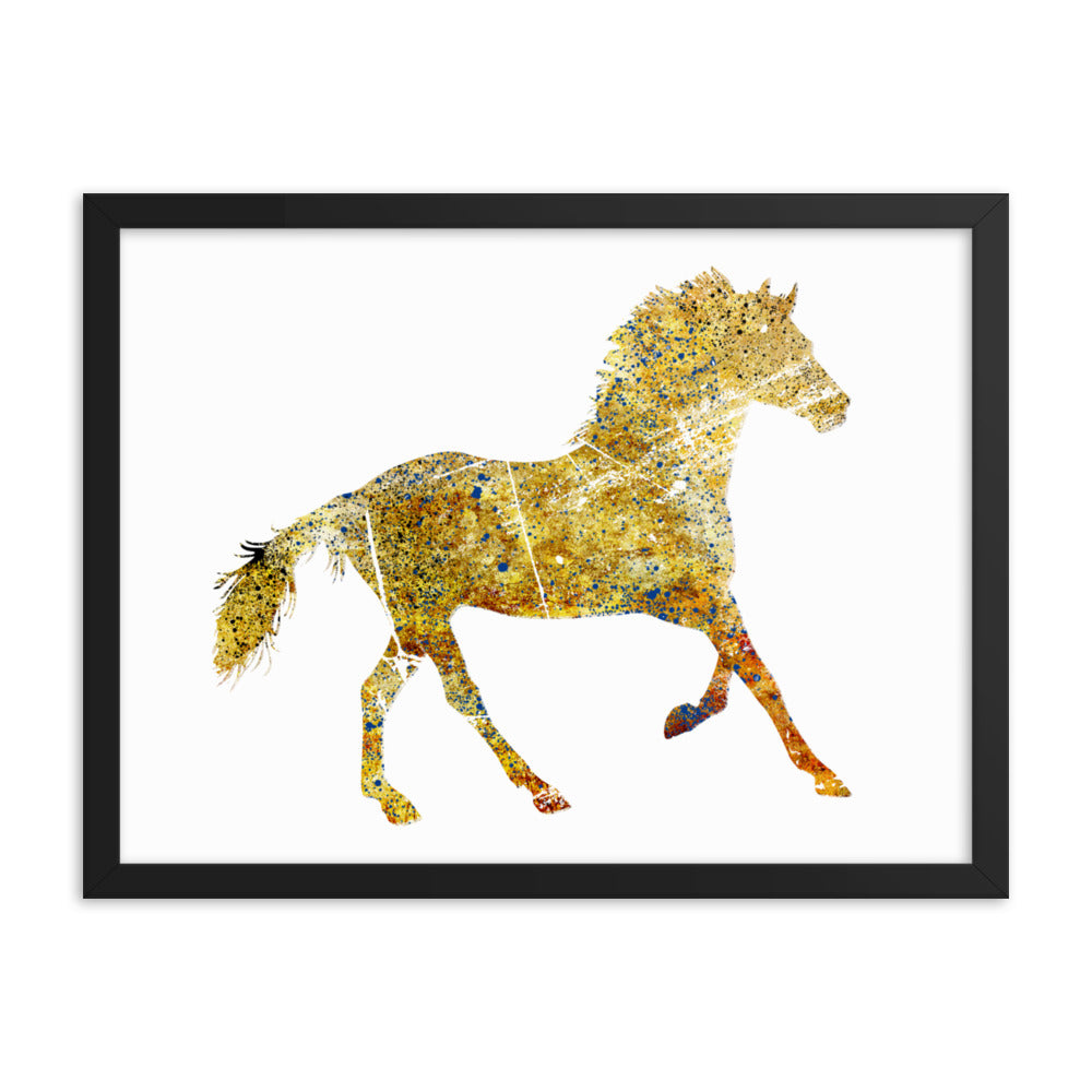 Enhanced Matte Paper Framed Poster (in): Horse Silhouette
