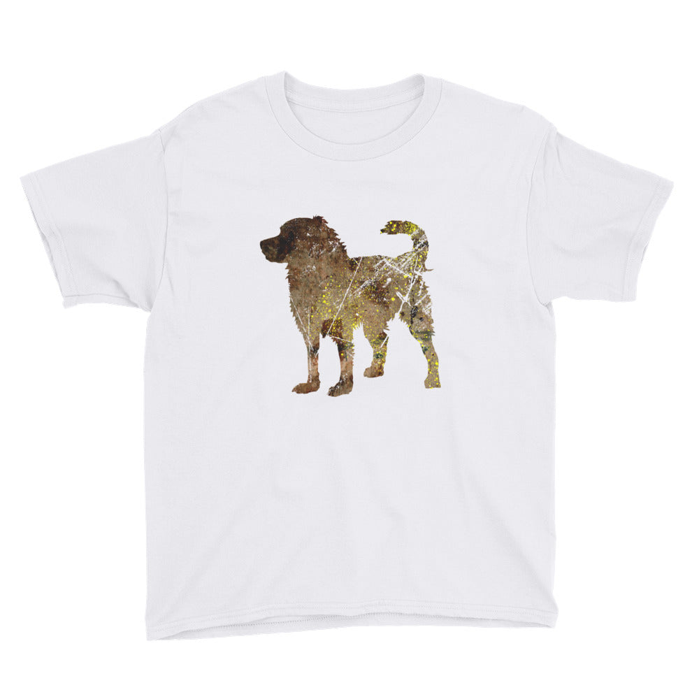 Youth Lightweight T-Shirt: Bernese Mountain Dog Silhouette