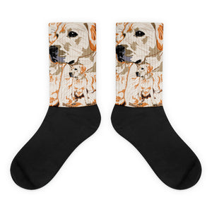 Black Foot Sublimated Socks: Labrador Retriever