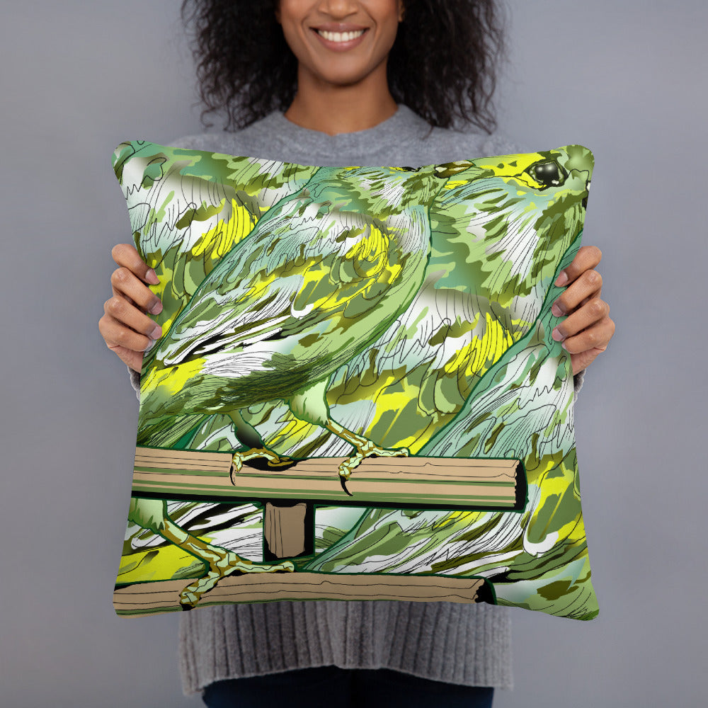 All-Over Print Basic Pillow: Canary