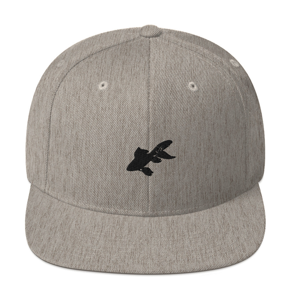 Classic Snapback: Goldfish Silhouette