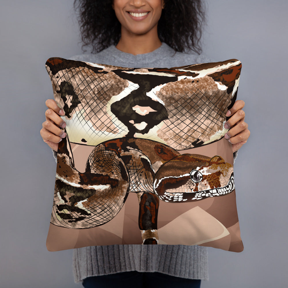 All-Over Print Basic Pillow: Boa Constrictor