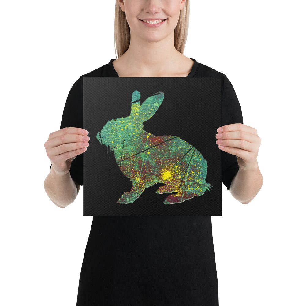 Canvas (in): Rabbit Silhouette