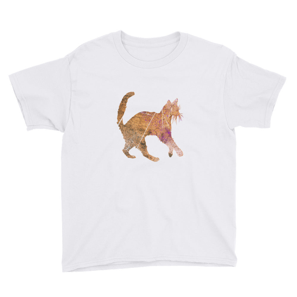 Youth Lightweight T-Shirt: Siamese Cat Silhouette