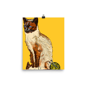 Enhanced Matte Paper Poster (in): Siamese Cat