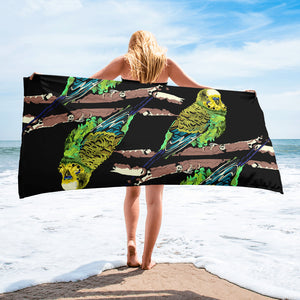 Sublimated Towel: Parakeet